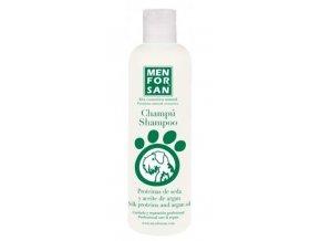 Menforsan Šampon pro psy s hedvábnými proteiny a arganovým olejem 300 ml