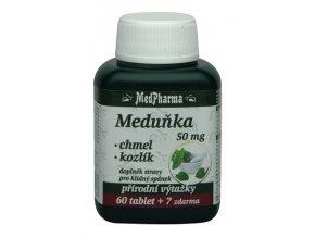 MedPharma Meduňka 50 mg + chmel + kozlík 67 tbl.