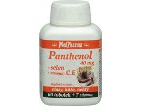 MedPharma Panthenol 40 mg Forte + selen + vitamín C, E 60 tob. + 7 tob. ZDARMA