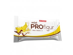 Nutrend Profigur Müsli tyčinka cik cak poleva Banán 28 g