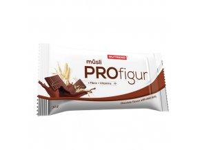 Nutrend Profigur Müsli tyčinka polozalitá Čokoláda s kakaovou polevou 33 g