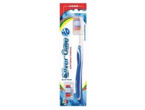 SilverCare H2O zubní kartáček s výměnnou náhradní hlavicí - tvrdý