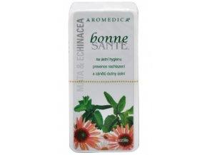 Aromedica Bonne Santé Máta & Echinacea Aromaterapeutické pastilky 80 ks