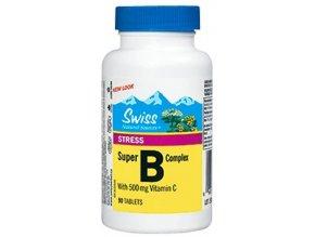 Swiss Super B complex s vitaminem C 500 mg 90 tbl.