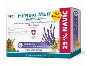 HerbalMed pastilky Dr. Weiss při nachlazení bez cukru 24 pastilek + 6 pastilek