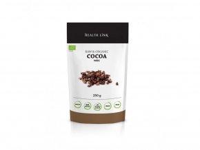 Health Link Bio Kakaové boby nepražené drcené z Peru Raw 250 g