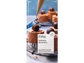 Vivani Bio Čokoláda na vaření mléčná 200g