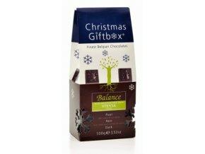 Balance hořké belgické čokoládky - vánoční (maltitol + stévie) 100 g