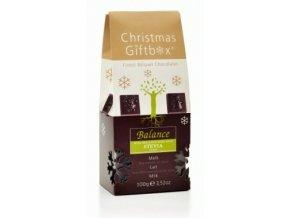 Balance mléčné belgické čokoládky - vánoční (maltitol + stévie) 100 g