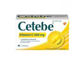 Cetebe Vitamín C 500 mg 60 kapslí