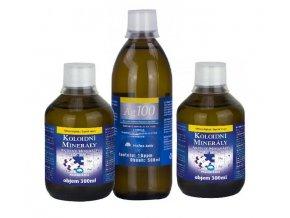 Aurum Koloidní minerály 2x 300 ml + Koloidní stříbro Ag100 (10ppm) 500 ml