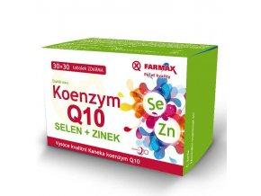 Farmax Koenzym Q10 + Selen + Zinek 30 tob. + 30 tob. ZDARMA