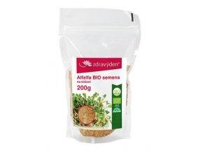 ZdravýDen® BIO Alfalfa – semena na klíčení 200 g