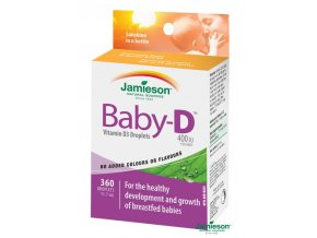 Jamieson Baby-D™ Vitamín D3 400 IU kapky 11,7 ml