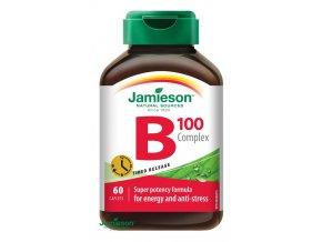 Jamieson B-komplex 100 mg s postupným uvolňováním 60 tbl.