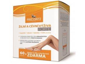 Priessnitz Žilní a cévní výživa Forte 60 tob.  + Mazání na žíly a cévy Medical 125 ml ZDARMA