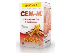SALUTEM Pharma CEM-M s koenzymem Q10 a s ženšenem Energie 90 tbl.