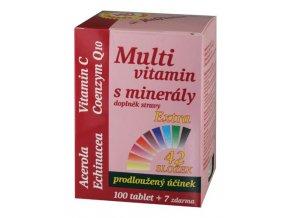 MedPharma Multivitamin s minerály 42 složek + extra C 100 tbl. + 7 tbl. ZDARMA