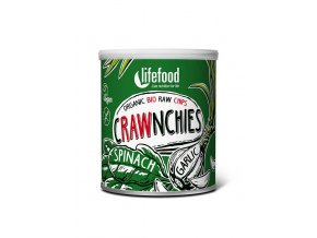 Lifefood BIO Crawnchies špenátové s česnekem 30 g