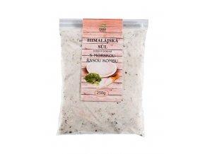 DNM Himalájská sůl růžová jemně mletá s mořskou řasou Kombu 250 g