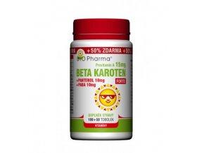 BIO Pharma Beta Karoten Forte 15mg + Pantenol 10mg + PABA 10mg 100 tob. + 50 tob.