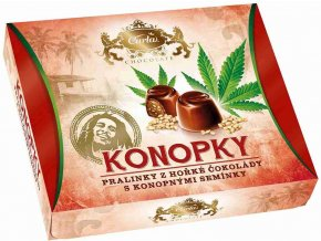 Carla Konopky - pralinky z hořké čokolády s konopným semínkem 120 g