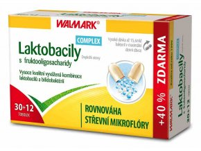 Walmark Laktobacily COMPLEX s fruktooligosacharidy 30 tob. + 12 tob. ZDARMA
