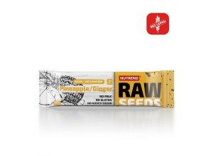 Nutrend Raw Seeds Bar Ananas + zázvor 50 g