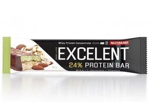 Nutrend Excelent Protein Bar Double Mandle + pistácie v mléčné čokoládě 85 g
