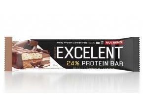Nutrend Excelent Protein Bar Double Čokoláda + nugát s brusinkami 85 g