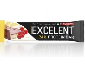 Nutrend Excelent Protein Bar Double Citron + tvaroh + malina s brusinkami 40 g