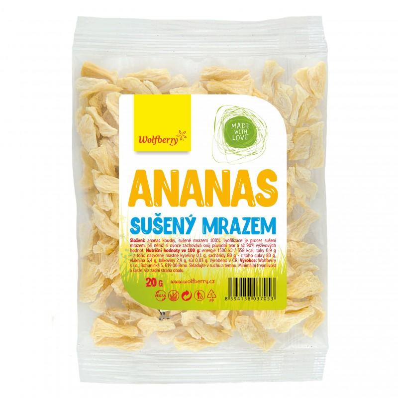 Wolfberry Ananas - kousky sušené mrazem 20 g