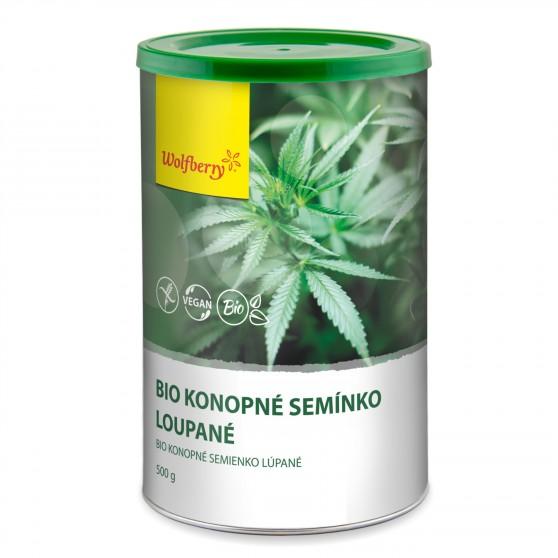Wolfberry Bio Konopné semínko loupané dóza 500 g