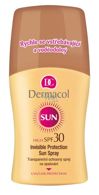 Dermacol Sun Transparentní ochranný sprej na opalování SPF 30 150 ml