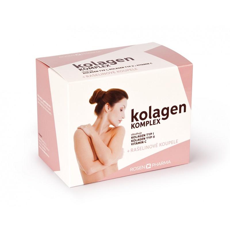 Rosenpharma Rosen Kolagen KOMPLEX 120 tbl. + 2 rašelinové koupele RosenSPA