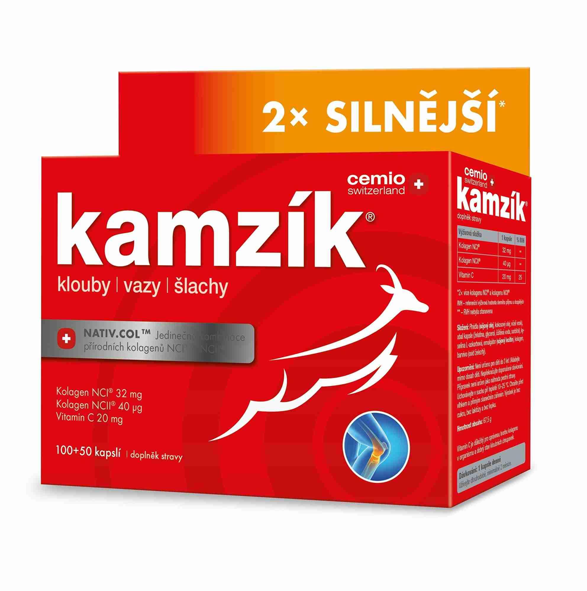 Cemio Kamzík kolagen na klouby 60 kapslí + 30 kapslí