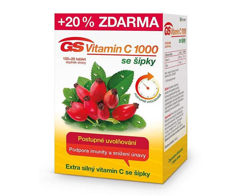 Green Swan GS Vitamin C 1000 + šípky 100 tbl. + 20 tbl. ZDARMA