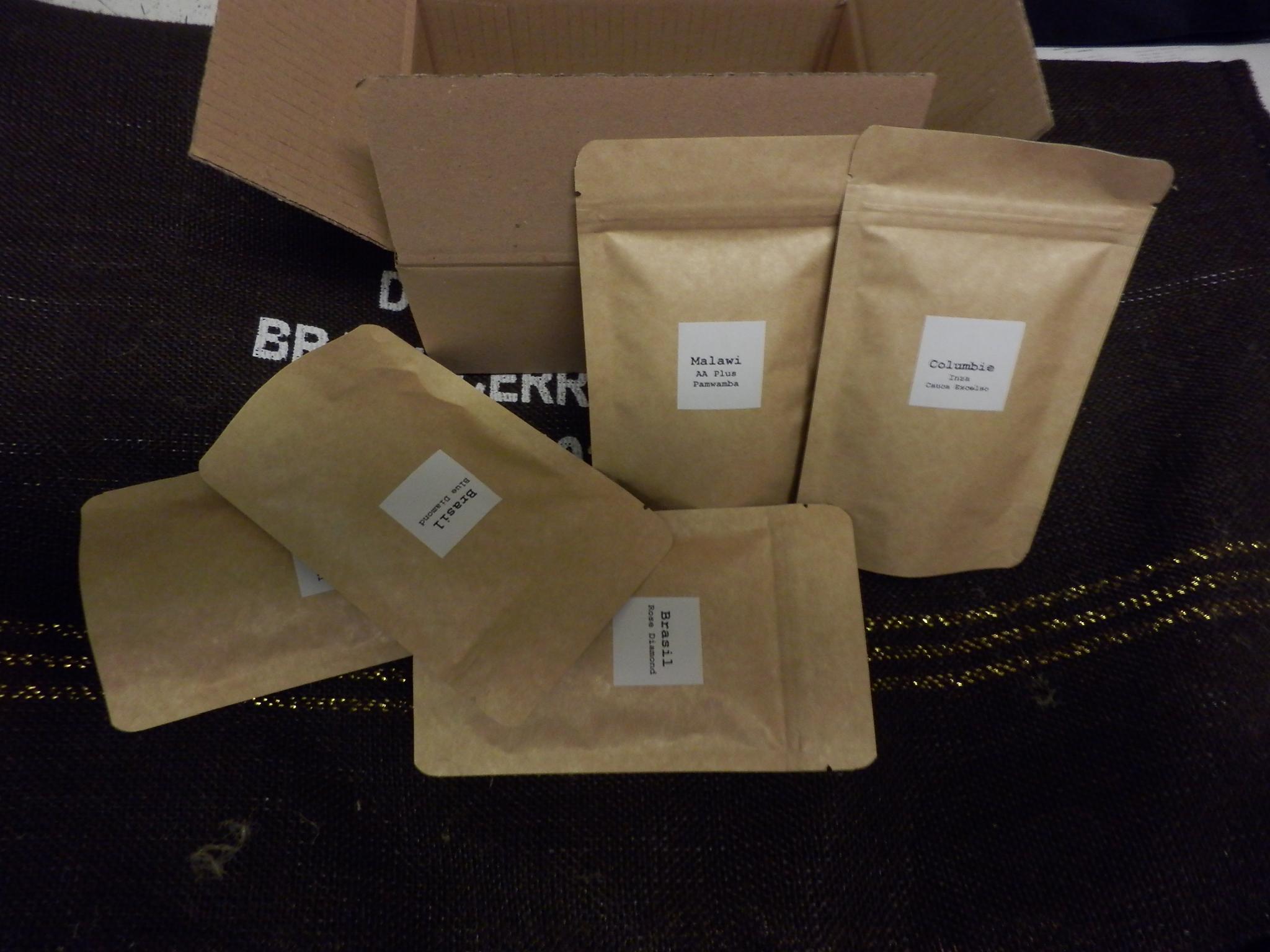 Coffeespot 1. Degustační balení kávy 5 x 50g ZRNO