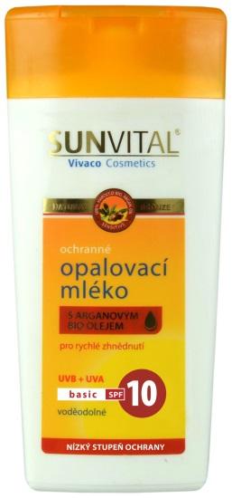 Vivaco Sun Opalovací mléko s arganovým olejem OF 10 SENSITIV 200 ml