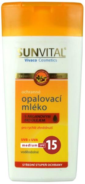 Vivaco Sun Opalovací mléko s arganovým olejem OF 15 SENSITIV 200 ml