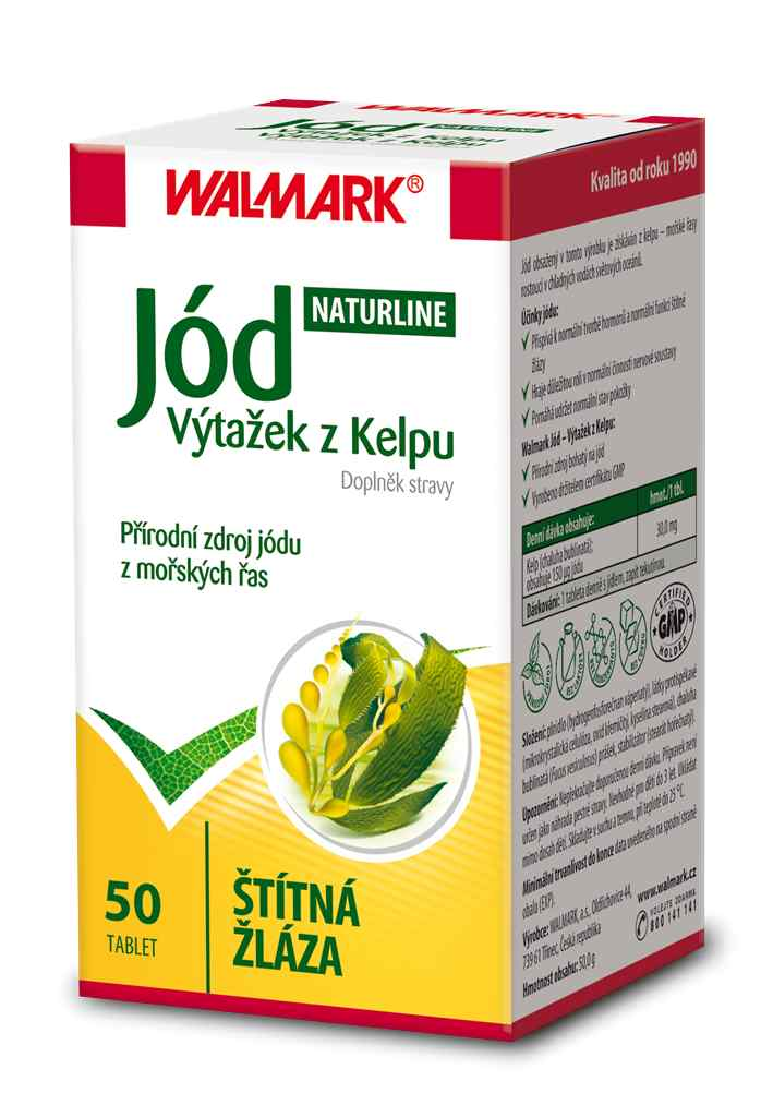 Walmark Jód (výtažek z Kelpu) 50 tbl.