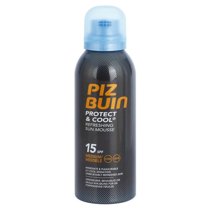 Piz Buin Protect & Cool osvěžující opalovací pěna SPF 15 150 ml