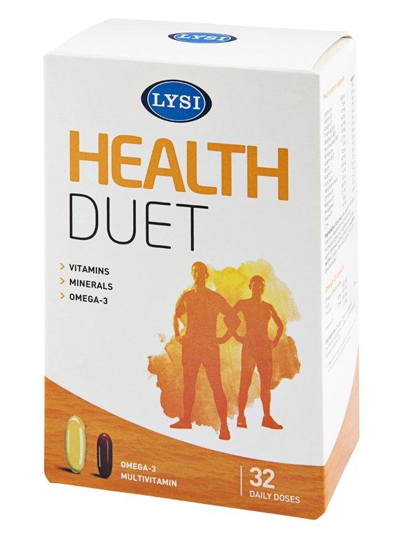 Lýsi Health duet, multivitamín a rybí olej 1000 mg 64 kapslí