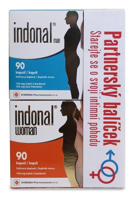 Synergia Indonal Partnerský balíček (Indonal Woman 90 kapslí + Indonal Man 90 kapslí)