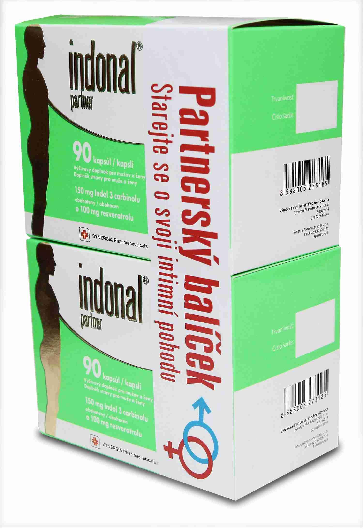 Synergia Indonal Partnerský balíček (Indonal Partner 90 kapslí + Indonal Partner 90 kapslí)