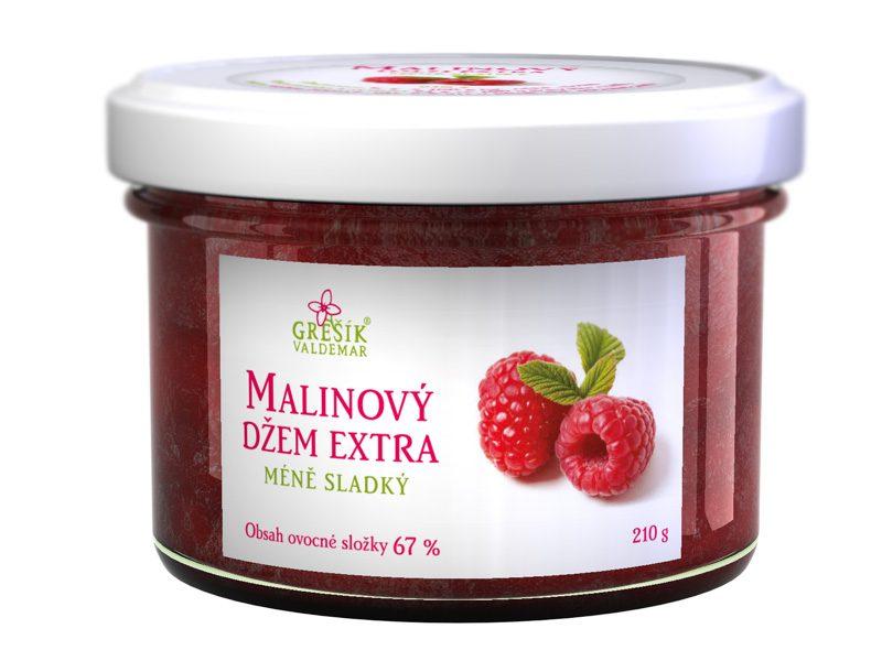 Grešík Malinový džem extra méně sladký 210 g