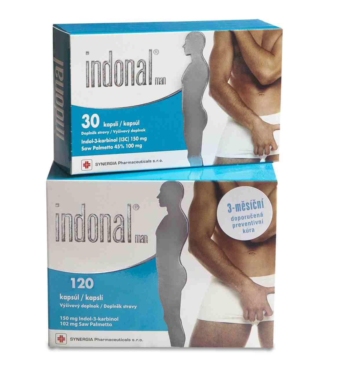 Synergia Indonal Man 120 kapslí + Indonal Man 30 kapslí