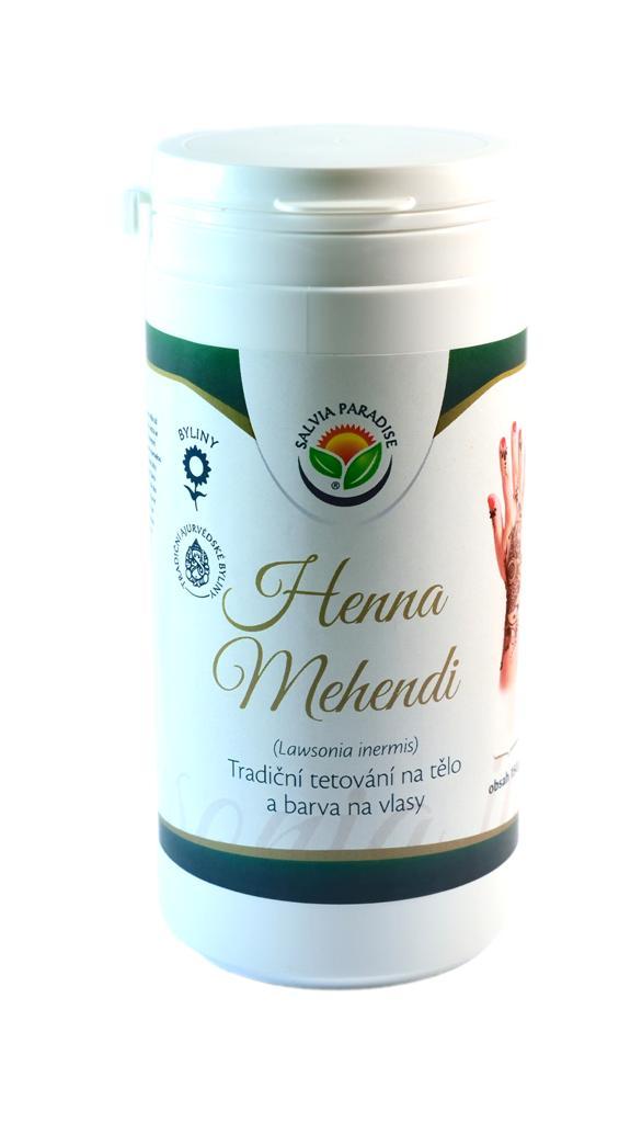 Salvia Paradise Henna Mehendi tradiční tetování na tělo a barva na vlasy Balení: 150 g