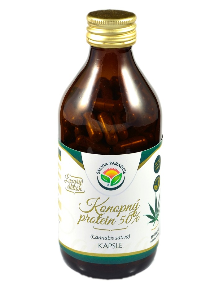 Salvia Paradise Konopný protein 50% kapsle 190ks