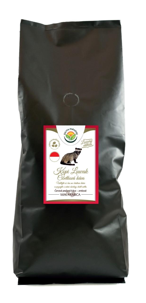Salvia Paradise Káva - Kopi Luwak - cibetková káva Balení: 1000 g